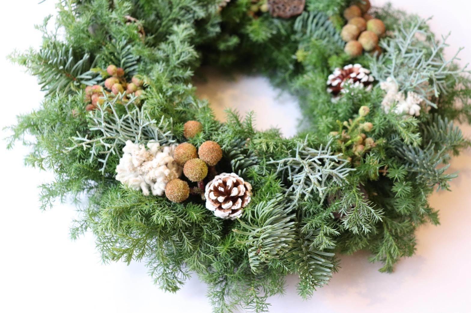 北欧風クリスマスリースレッスン